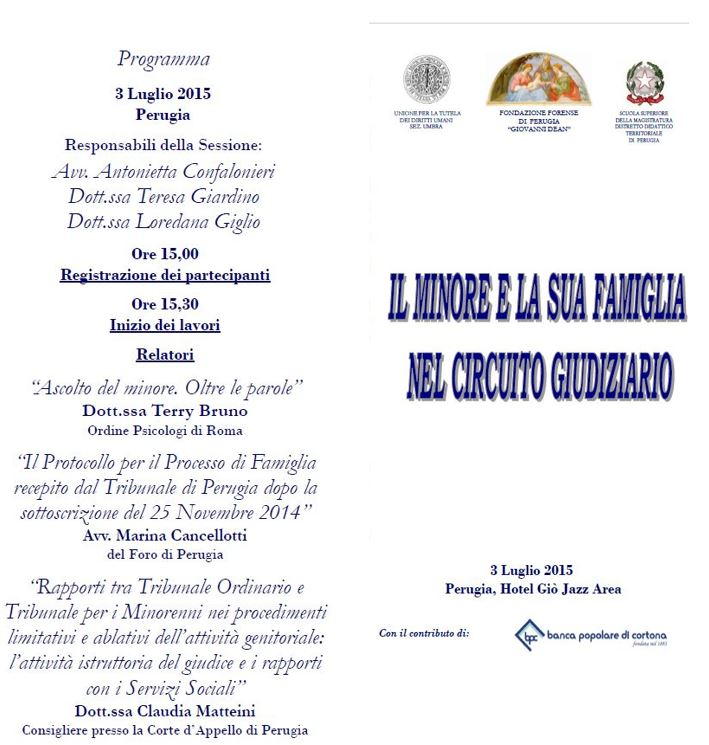 Programma Convegno Perugia